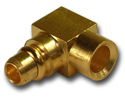 MMCX right angle solder plug