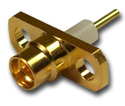 MMCX 2 Hole Panel Mount Jack with Solder Post and Extended Dielectric  Connector