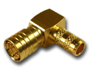 SMB right angle crimp plug Connector