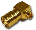 SMB right angle solder plug Connector