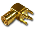 SMB right angle thru hole plug  Connector