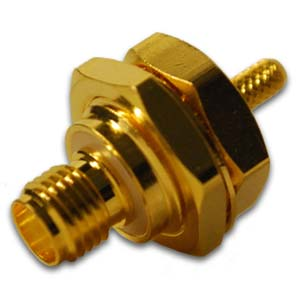 SMA Isolated Bulkhead Jack Connector