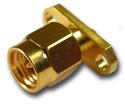 SMA 2 hole panel mount plug with tab terminal  Connector