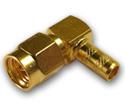 SMA right angle crimp plug