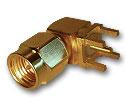 SMA right angle thru hole plug  Connector