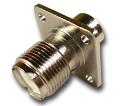 UHF panel mount clamp on jack