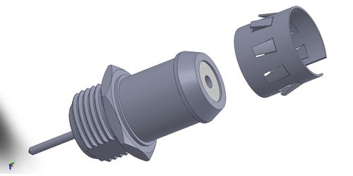 G rf connector LTI-GSF93BTT-X7-WHT