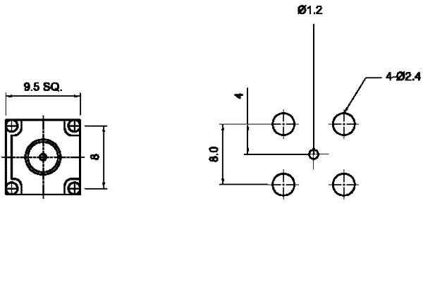 f precision right angle thru hole jack pcb Connector
