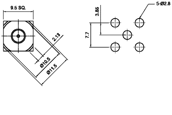 f right angle thru hole jack long version pcb Connector