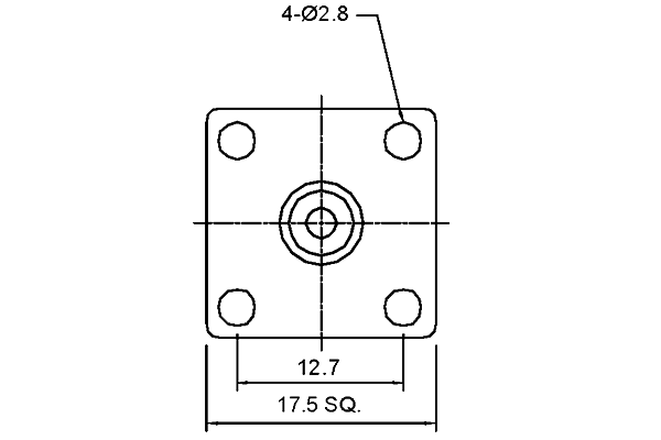 f panel mount jack with solder cup termination pcb Connector