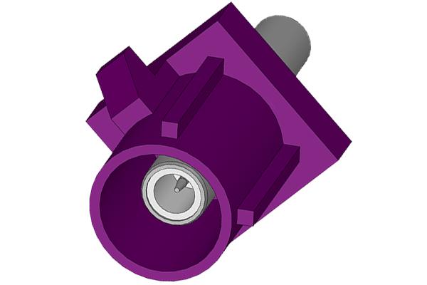 fakra straight crimp jack purple Connector