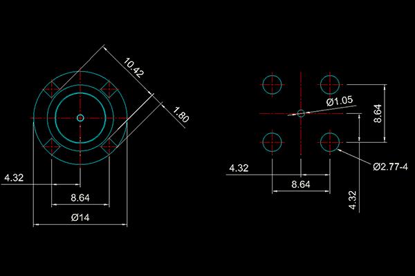 g vertical bulkhead thru hole jack pcb Connector