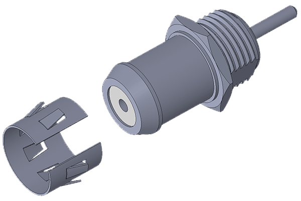 g front mount bulkhead jack with solder post Connector