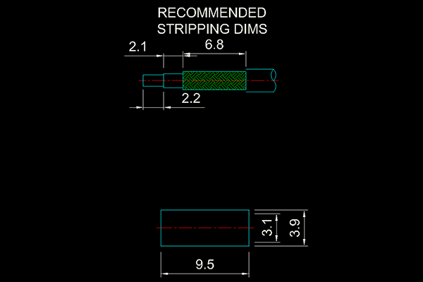 g straight crimp plug Connector