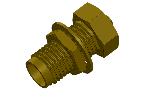 IPX to SMA bulkhead jack adapter
