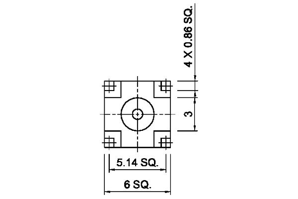mcx right angle bulkhead thru hole jack pcb Connector