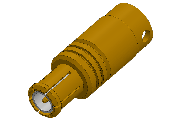 mcx straight solder plug Connector