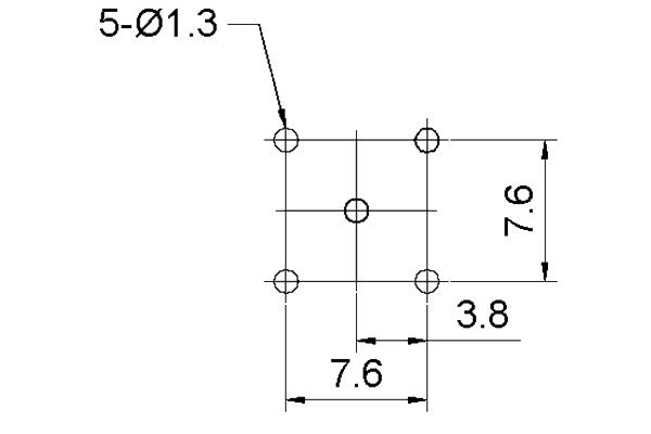 mini_uhf right angle thru hole jack pcb Connector