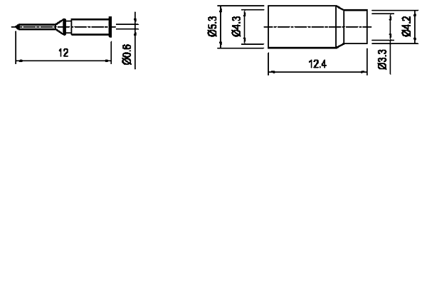mini_uhf straight crimp plug Connector
