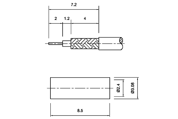 MMCX Right Angle Crimp Jack Connector