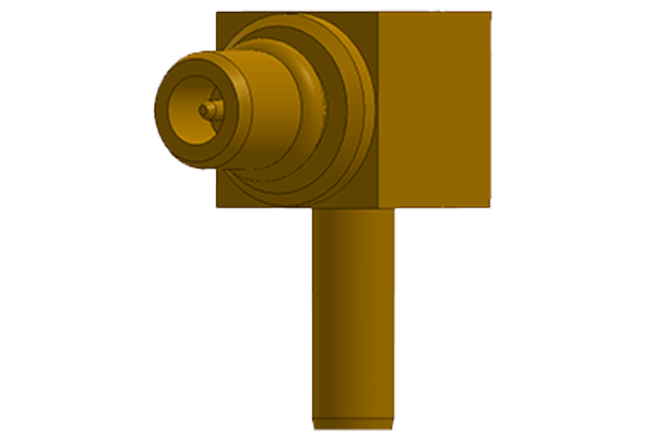 mmcx right angle crimp plug Connector