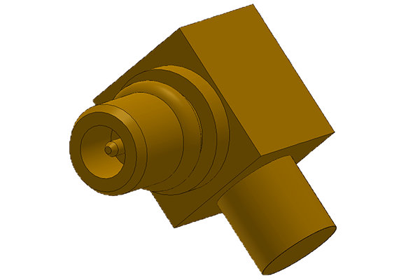 mmcx right angle solder plug Connector