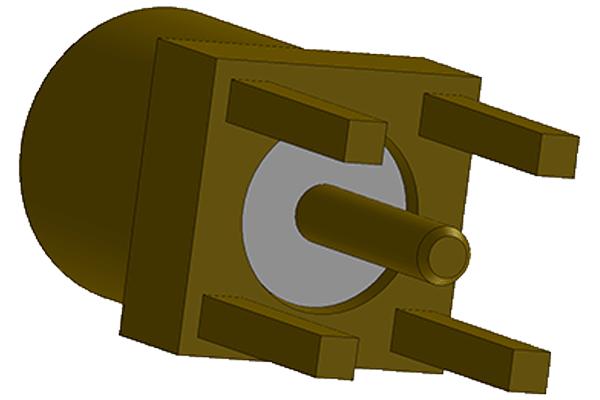mmcx vertical thru hole jack pcb Connector