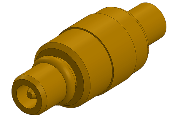 mmcx straight solder plug Connector