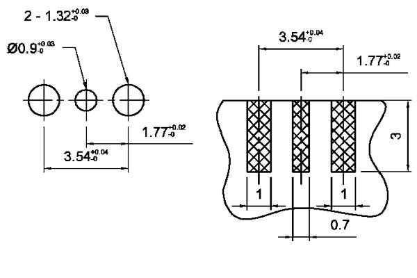 mmcx edge mount plug short version pcb Connector