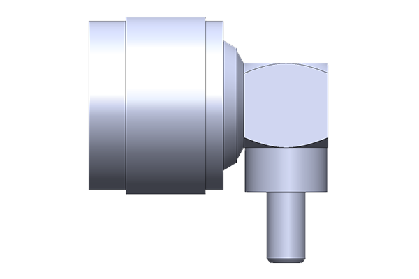 N right angle crimp plug Connector