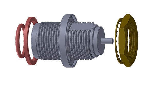 n front mount bulkhead crimp jack Connector