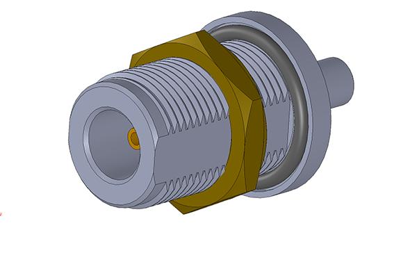 n rear mount bulkhead crimp jack Connector