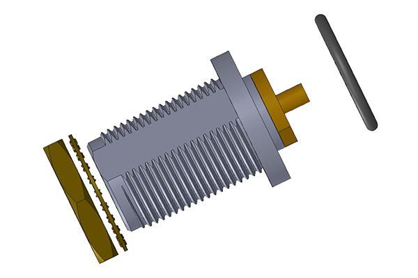 n bulkhead rear mount solder jack Connector