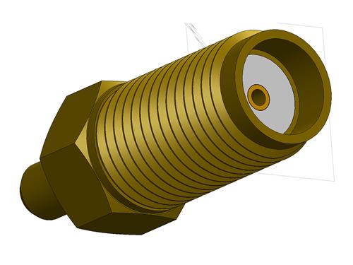 SMA Straight Jack Long Barrel Version