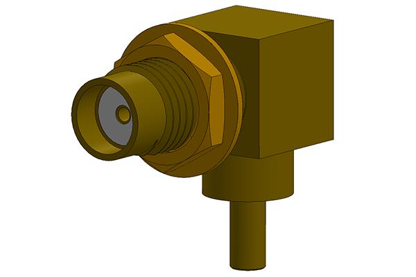 SMA right angle bulkhead jack Connector