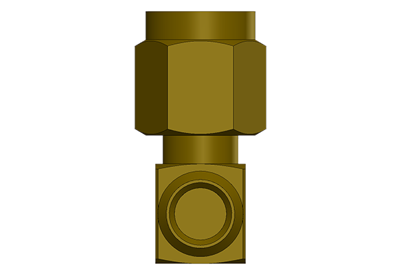 sma right angle solder plug Connector