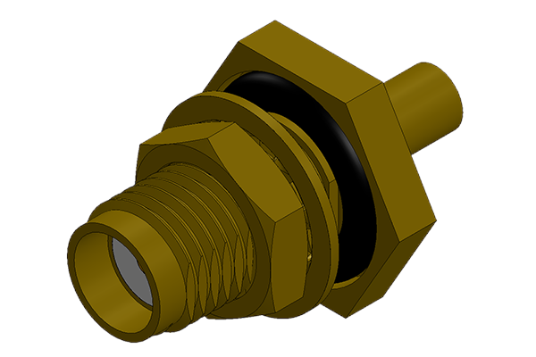 sma rear mount bulkhead solder jack with o ring Connector
