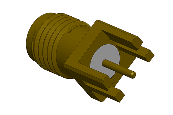 sma end launch jack 26.5 GHz pcb Connector
