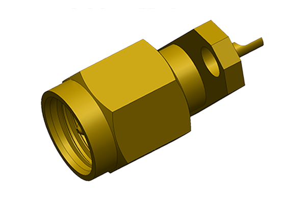 sma 2 hole panel mount plug with solder cup pcb Connector