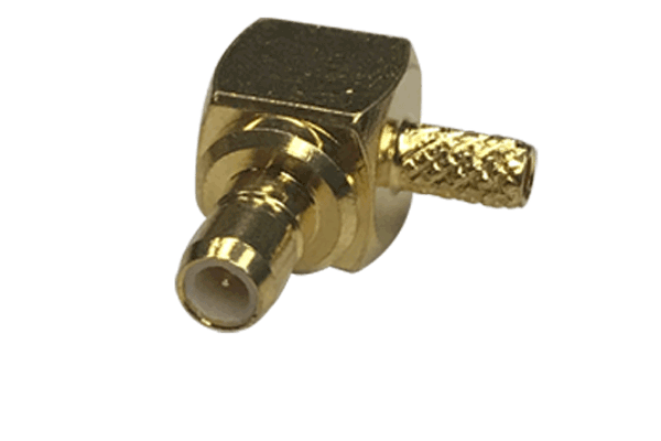 SMB right angle crimp jack