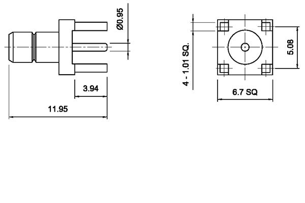 smb vertical thru hole jack pcb Connector