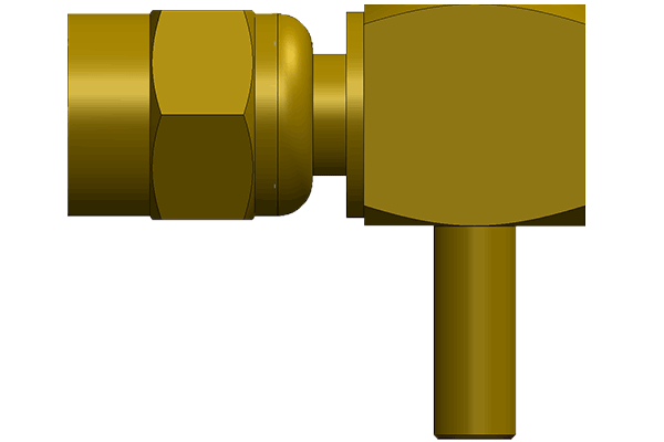 smc right angle crimp plug Connector