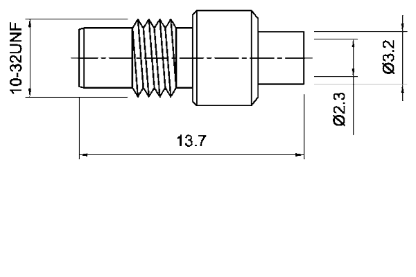 smc straight solder jack Connector