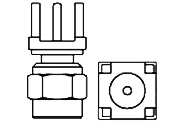 verticle thru hole plug