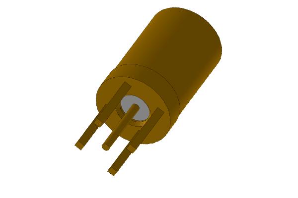 SSMB vertical thru hole plug pcb Connector