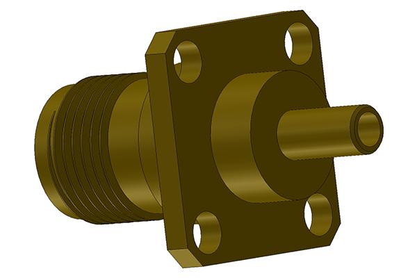 tnc panel mount crimp jack pcb Connector