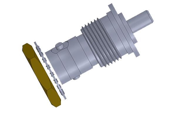 tnc isolated bulkhead crimp jack Connector