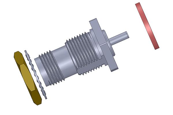 tnc bulkhead crimp jack long version Connector